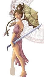 The Umbrella Girl by maina