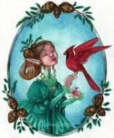 Cocotte et le cardinal by maina