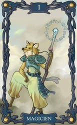 Tarot Card: Magicien + border by maina