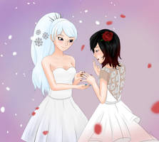 Weiss and Ruby Wedding by brown-nii
