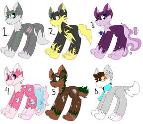 Adoptables [0/6 OPEN] by Wu1f