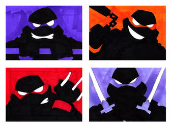 TMNT Sketchcards by thecheckeredman