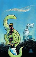 Usagi Yojimbo #7 cover recreation by thecheckeredman