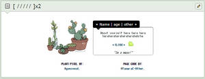 plant + frog | page code by TamaraC-Other