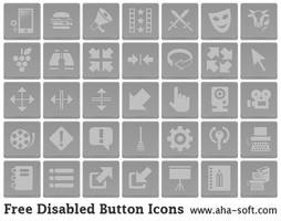 Free Disabled Button Icons by aha-soft-icons