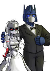 Megatron and Optimus by tran4of3