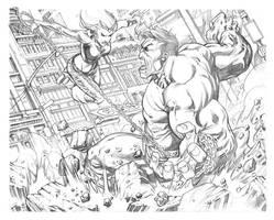 Tundra vs Hulk by RobertAtkins