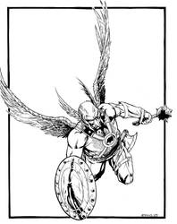 Hawkman MegaCon sketch by RobertAtkins