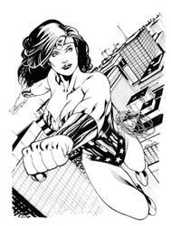 Heroes Con WonderWoman sketch by RobertAtkins