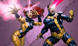 X-Men Jean and Scott colors by RobertAtkins