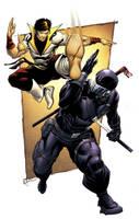 Karate Kid vs. SnakeEyes colored SOTD by RobertAtkins