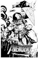 Sketch Cover WW2 Captain America SOTD by RobertAtkins
