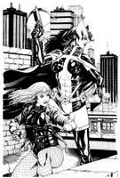 JLA Jan. Black Canary and Huntress SOTD by RobertAtkins