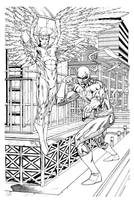 Angel and Iron Fist WIP nearly done by RobertAtkins