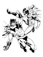 Batman and Robin wingman and redbird by RobertAtkins