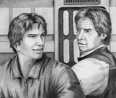 Jacen and Han Solo by SvenjaLiv