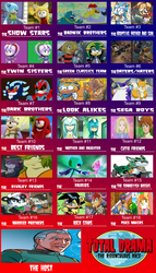 Contestants for Total Drama Sonic Ridonculous Race by donamorteboo