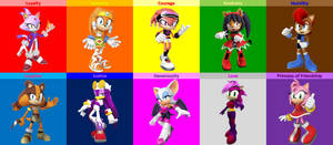 [NEW] Elements of Harmony - Sonic Girls by donamorteboo