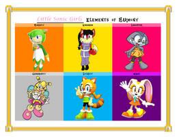 MLP Elements of Harmony - Little Sonic Girls by donamorteboo