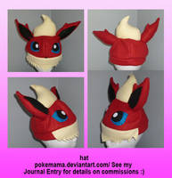 Flareon hat by PokeMama