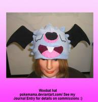 Woobat hat by PokeMama