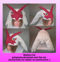 Blaziken hat by PokeMama
