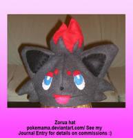 Zorua hat by PokeMama