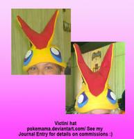 Victini hat by PokeMama