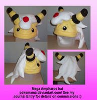 Mega Ampharos hat by PokeMama