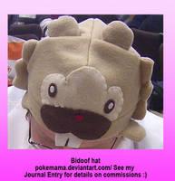 Bidoof hat by PokeMama