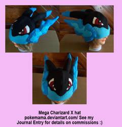 Mega Charizard X hat by PokeMama
