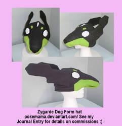 Zygarde dog form hat by PokeMama