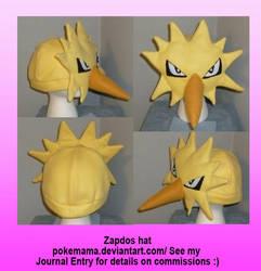 Zapdos hat by PokeMama