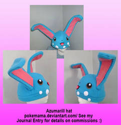 Azumarill hat by PokeMama