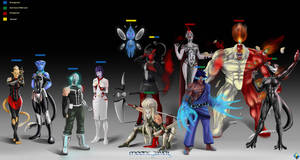 Mooncleaver lineup (Discontinued) by SuperSaiyan3Scooby