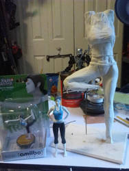 Wii fit trainer sculpture wip by SuperSaiyan3Scooby