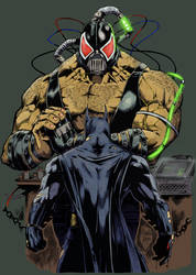 Batman and Bane by greenjaygraphic