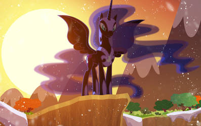 Nightmare Moon sundown eclipse by Light262