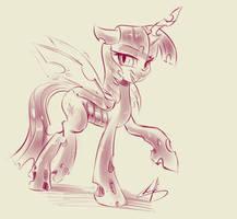 [Lumic4-Light] Twilight Changeling sketch by Light262