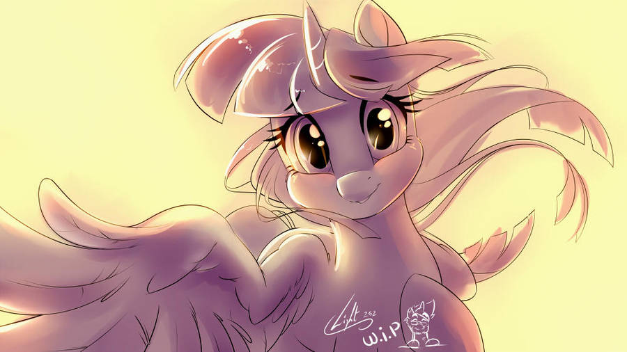 [Sketch] Twilight Sparkle tenderness WIP  by Light by Light262