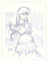 Saki - Sketch by MichaelCrichlow