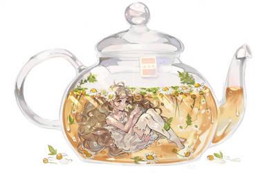 Teapot Girl Chamomile by AlpacaCarlesi
