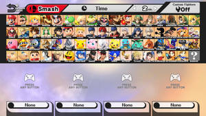 Super Smash Bros. - Every Character, and Rayman by Spikeylord