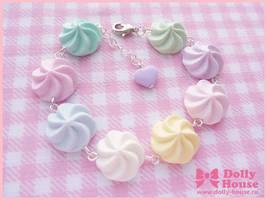 Pastel Marshmallows Bracelet by SweetDollyHouse