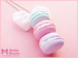 Pastel Macaroons Necklace by Dolly House by SweetDollyHouse
