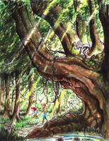 Rubel And Heath in the Sleeping Wood by OakleyMark