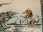 werewolf vs land dragon  by ricksd