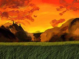 Bokurano Sunset by oboeteru
