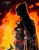 Ben Affleck Batman by reptiliandemon