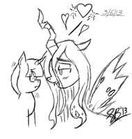 Quick Sketch- Twilight X Queen Chrysalis by xxXSketchBookXxx